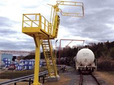 Insta-Rack: Single Hatch Pedestal Platform for Loading Tank Trucks and Railcars