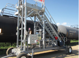 Portable Transloading Platforms for Tank Trucks & Railcars by GREEN