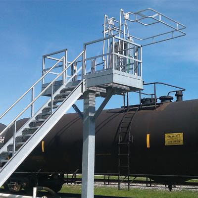 'Insta-Rack' Pedestal Platforms | Single-Hatch Access Platforms for Tank Trucks and Railcars
