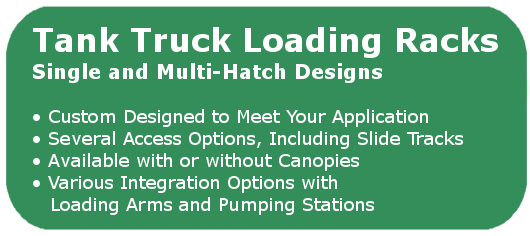 Tank Truck Loading Racks and Platforms Made in the USA by GREEN | 440.934.2180