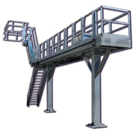 Truck Loading Racks | Benko Products | GREEN Access & Fall Protection