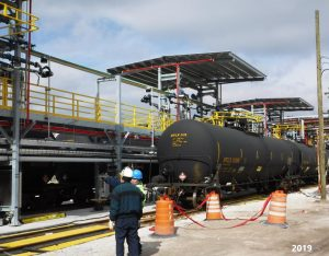 2019 railcar loading platform