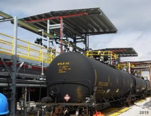 Railcar Loading Platform with Canopy