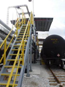 Railcar Loading Platform with custom stairway