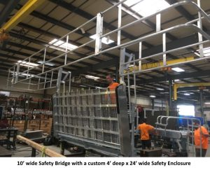 Safety Bridge with Wide Safety Enclosure | GREEN Access & Fall Protection